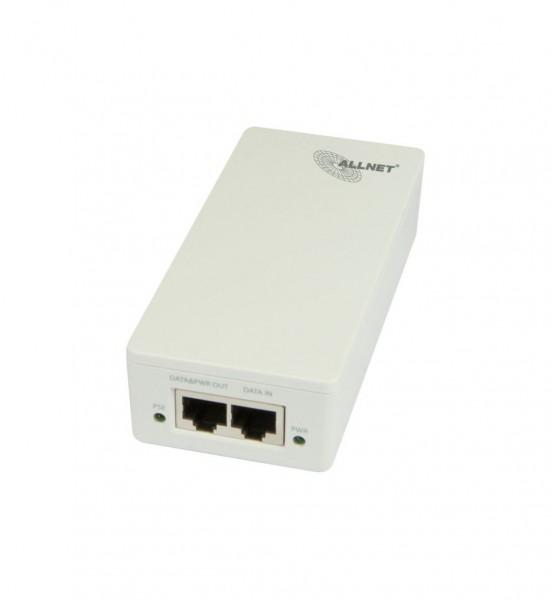 ALLNET ALL0488V5 / Gigabit PoE Injector IEEE802.3at/af, IEC-C14, Plastik