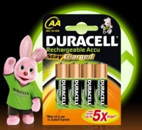 Akku NiMH AA 1, 2V StayCharged (HR06) 2400mAh *Duracell* 4er-Pack