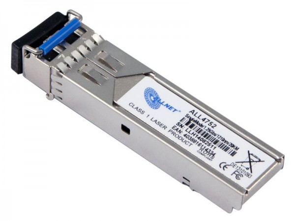 ALLNET Switch Modul ALL4752-INDU SFP(Mini-GBIC), 1000Mbit, LHX/LC, 20KM, Industrial, -40/+85 Grad,
