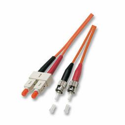 LWL-2-Faser-Patchk. 3mtr.ST-SC, 50/125um,OM3,