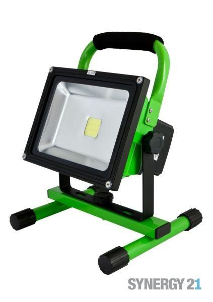 Synergy 21 LED AKKU Baustrahler 20W grün/kaltweiß