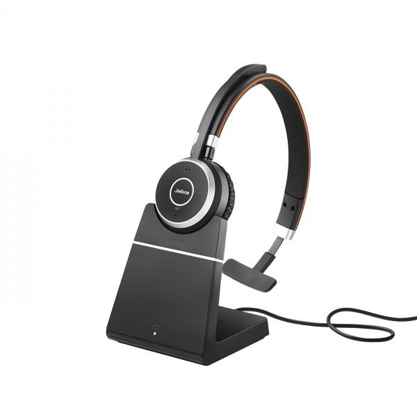 Jabra Evolve 65 Headset Mono USB / Bluetooth mit Ladegerät