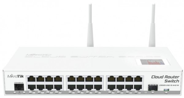 MikroTik Cloud Router Switch CRS125-24G-1S-2HnD-IN, 24x Gigabit, 1x SFP, WiFi