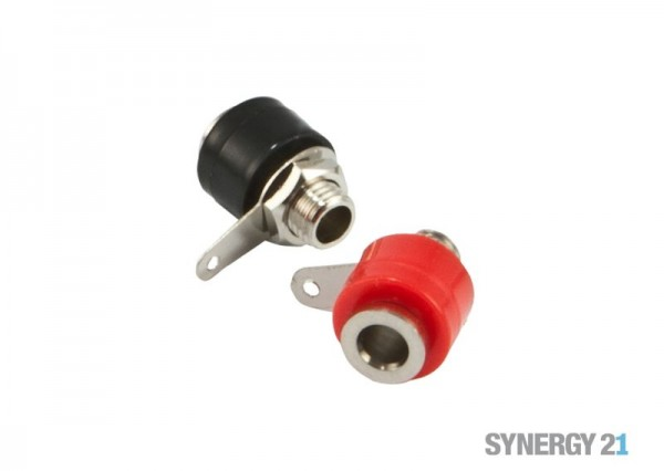 Synergy 21 Laborklemme 4mm rot