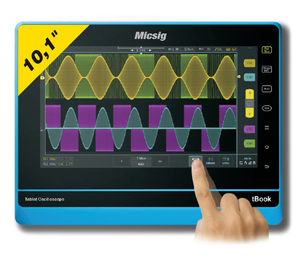 Micsig TO152A-PRO / 150 MHz 2-Kanal Tablet-Oszilloskop, 2 GS/s, 500.000 wfms/s, 90 Mpts, 13.000 mAh