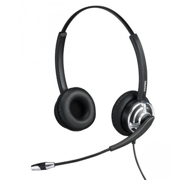 Plusonic Headset 8.2P, binaural, NC, Wideband