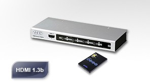 Aten Video Splitter, HDMI, 4xInput, 1xOutput, IR Remote Cont