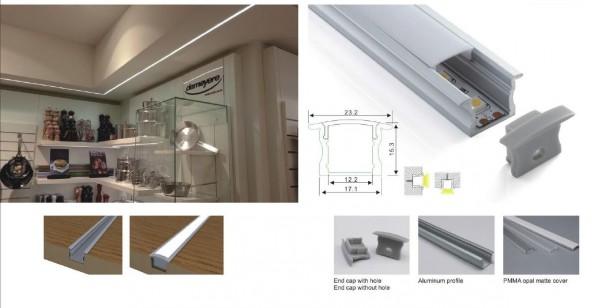 Synergy 21 LED U-Profil 200cm, ALU003 weiss