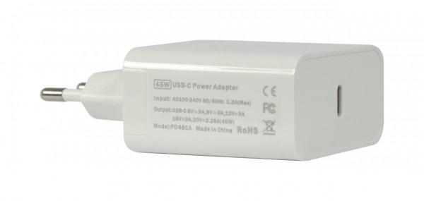 ALLNET Ersatznetzteil QC USB-C PD Netzteil Power Supply 45 Watt 1x USB Typ C**EU PLUG**