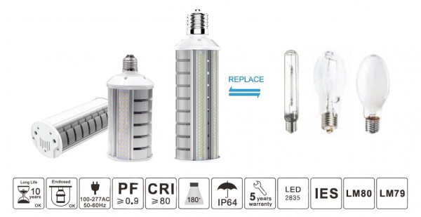 Synergy 21 LED HID Corn Retrofit E27 180° 30W nw