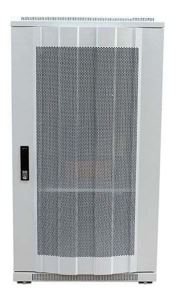 """ALLNET 19""""Schrank, 12HE, B600/T1000mm, perforierte Blechtüren, Lichtgrau, SNB-Serie,"""