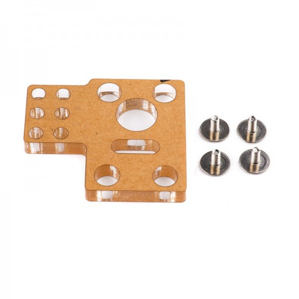 Makeblock-Worm Geared Motor Bracket A (PMMA)