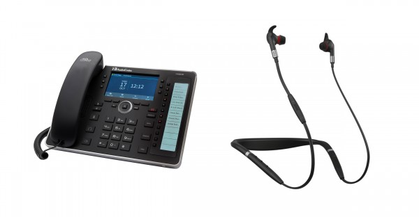 Audiocodes - Jabra Bundle, UC445HDEG & Evolve 75e MS inkl. Link 370