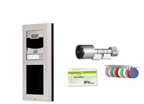 elektronischer schliesszylinder 2n gegensprechanlage entrycom ip verso basiseinheit mit hd kamera schlieazylinder gratis abus