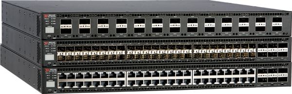 Ruckus Networks ICX 7750 Switch with 26 40GbE QSFP+ ports, and one modular slot. Base layer 3 software feature set.