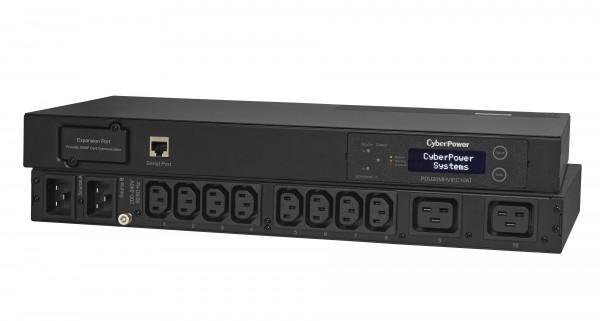 CyberPower PDU, Switched, 230V/16A, 1HE, 8xC13/2xC19 Ausgang, 2xC20 Eingang,