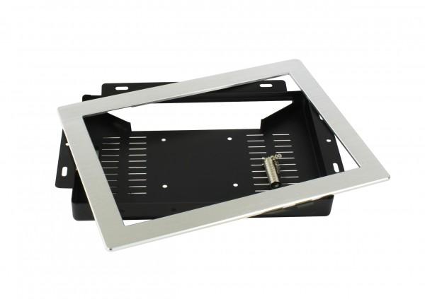 ALLNET Touch Display Tablet 10 Zoll zbh. Einbauset Einbaurahmen + Blende Silber Schmal