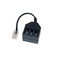 Kabel TK TAE-Adapter, RJ11-Stecker->NFN-Buchse, 6/4,