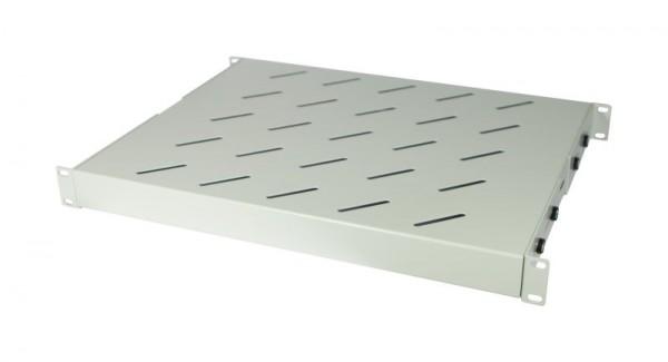 """ALLNET 19""""zbh. Fachboden fest, für 600mm Schrank tiefe, 1HE, Lichtgrau, t350-450mm,"""