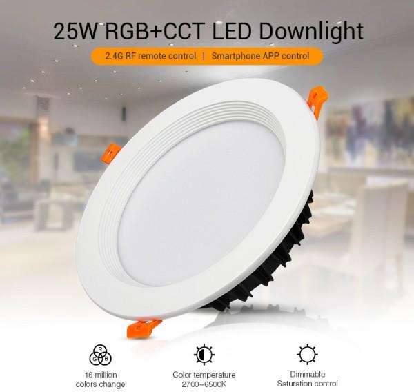 Synergy 21 LED Panel Rund 25W RGB-WW mit Funk und WLAN *Milight/Miboxer*