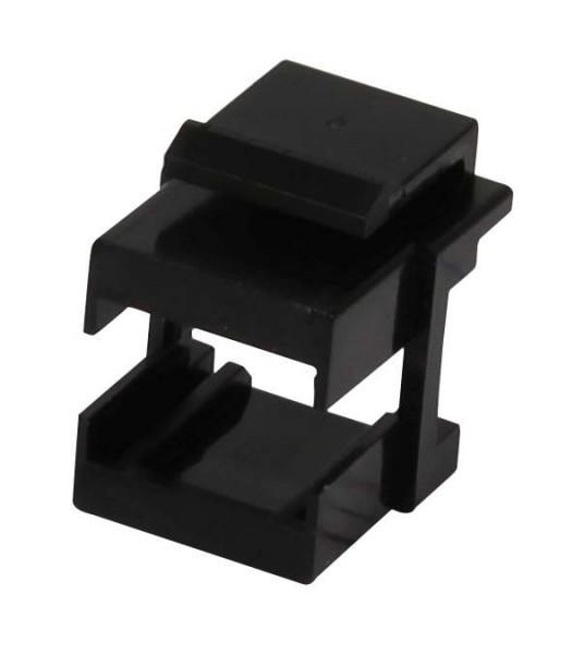 Keystone, Modul;Aufnahme für LWL-Kupplungen(LC), schwarz, Synergy 21,