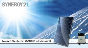 Synergy 21 Micro on grid Inverter -STARTER KIT- incl Solarpanel V4