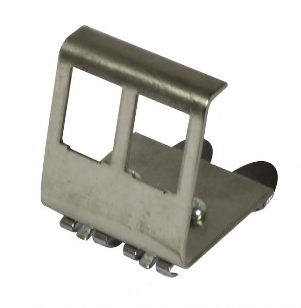 Keystone, Modulträger, DIN Rail, für 2xTP-Modul, Hutschienenadapter, Synergy 21,