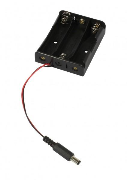 ALLNET Battery 3er Pack für 18650 Li-ion Akku mit Hohlstecker 5,1x2,1mm