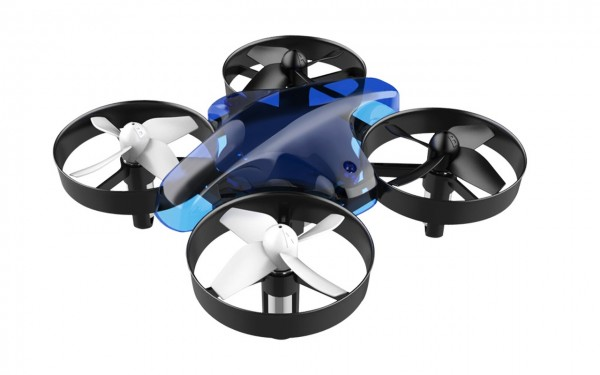 ALLNET Mini Drohne mit Fernbedienung ohne Kamera (Farbe blau)