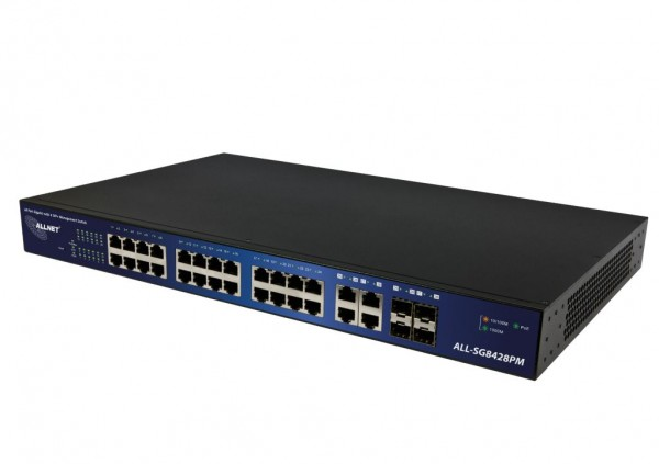 ALLNET ALL-SG8428PM / 24 Port Gigabit Kupfer PoE + 4x SFP smart-managed