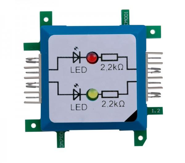 ALLNET Brick'R'knowledge LED dual rot & gelb Signal durchverbunden