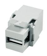 Keystone, Modul, USB 2.0 Kupplung, weiß, Telegärtner