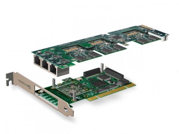 Sangoma 0xBRI/S0 PCIx Basiskarte + Remora für bis zu 6 S0 P