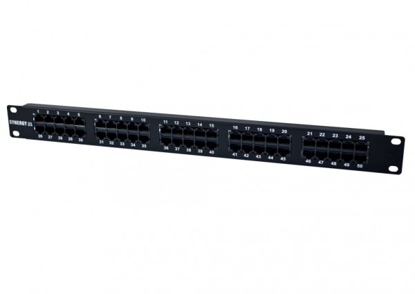 "Patch Panel 50xTP, CAT3, ISDN, 19"", Schwarz Synergy 21,"