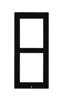 2N Zubehör EntryCom IP Verso zbh. Frontblende Aufputzrahmen schwarz (2 Module)