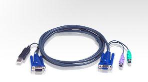 Aten Verbindungskabel HDB15(St/Bu),2xPS/2(St),1xUSB(St), 3m
