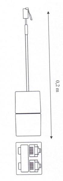 Kabel TK RJ-10 Y-Adapter