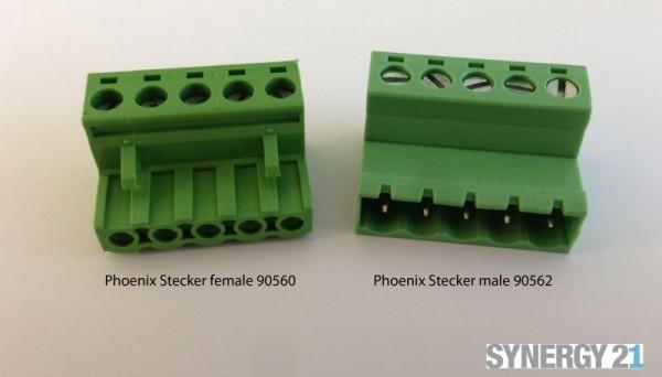 Synergy 21 LED zub Schraubklemme KEFA (Phoenix® kompatible) Stecker 5 F