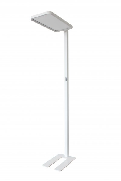 Synergy 21 LED office line Stehlampe weiss, dimmbar+daylight sensor