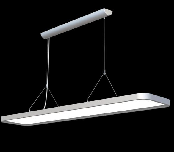 Synergy 21 LED office line Abhänge - Panel weiss, dimmbar