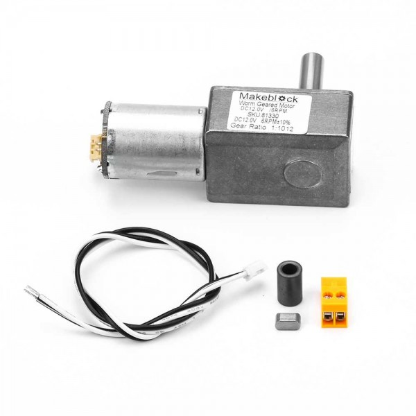 Makeblock-Worm Geared Motor DC12.0V/6RPM