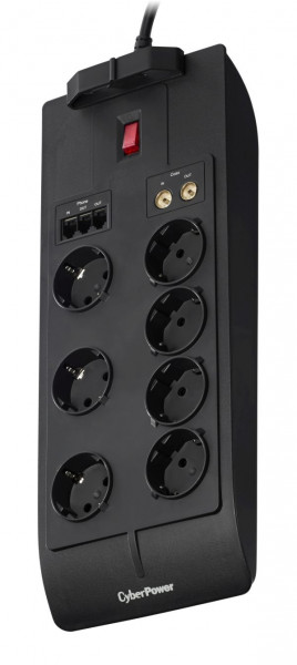 CyberPower Steckdosenleiste, Surge Protector with 7 Outlets schwarz 1050J EPP Insurance 75.000