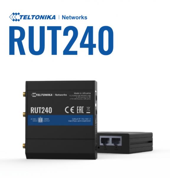 Teltonika · Router · RUT240 · Kompakter-4G/LTE Router