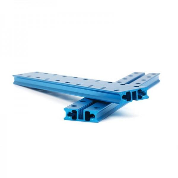 """Makeblock """"Slide Beam 0824-160 Blue (Pair)"""" / 2x Gleitschiene 0824-160 für MINT Roboter"""
