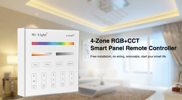 Synergy 21 LED Fernbedienung Smart Panel RGB-WW (RGB-CCT) 4 Zonen *Milight/Miboxer*