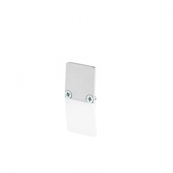BILTON Profil zub ENDCAP für YT02 + Cover flach ALU L6,5xB17,5xH9,6mm EB-Maß 1,5mm ohne Bohrung