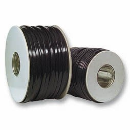 Kabel TK Flach 4 pol. 100m SCHWARZ, Flex, Flachkabel, Spule,