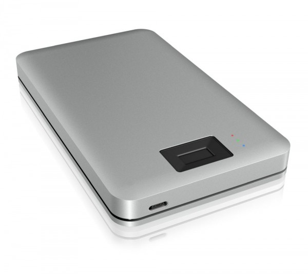 "ICY Box Gehäuse, ext.SATA 2,5""/USB 3.0 Type-C, Alu, Fingerabdruck, IB-246FP-C3,"