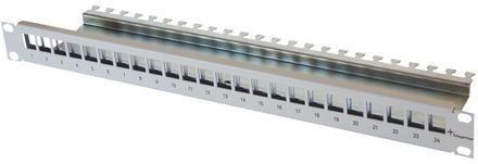 "Telegärtner Patchpanel 24xAMJ/AMJ-S-Mod./Kupplung 19"" Schwar"