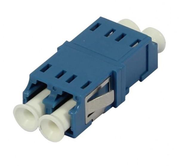 LWL-Kupplung, LC-Buchse/LC-Buchse, 9/125u Singlemode OS2, blau, duplex, PVC, ohne Flansch, Synergy 21,